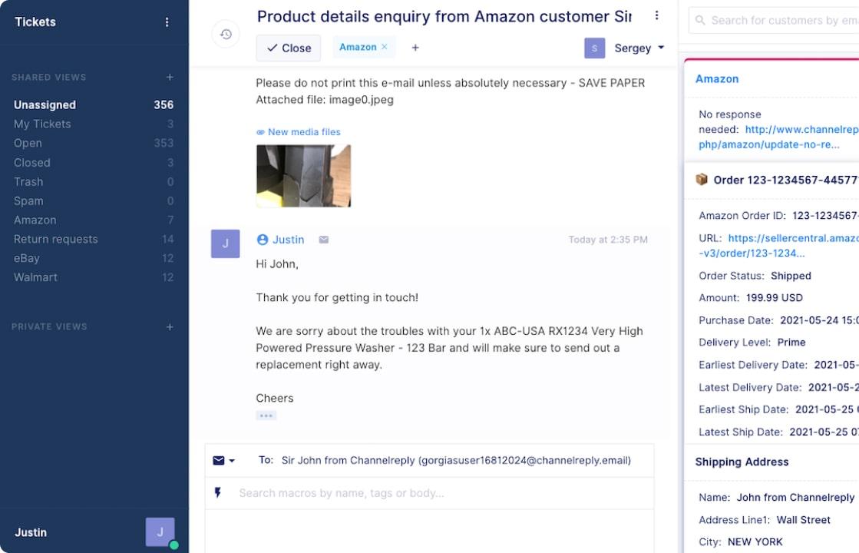 Amazon Integration with Gorgias